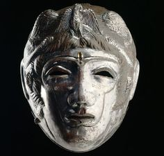 This helmet is one of the best preserved of its kind face helmets as synthesis were not in combat, but worn by Roman cavalry soldiers in parades and competitions. The tournaments and parades appear under the Emperor Hadrian 117 -138 A.D.
