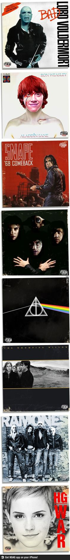 Harry potter x classic album covers