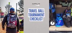 Packing checklist for your next travel ball weekend tournament. There is one list for players, one for parents, and one for coaches! Print it off and let us help take the stress away from packing.
