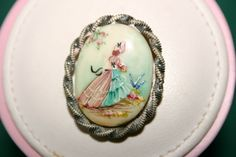 Vintage Sterling Silver Mounted Hand Painted by gillardmay2011, £29.00