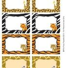 Jungle Safari Classroom Décor Bin Tag Labels - These sweet labels are great for decorating your classroom in a safari theme. Use them as name tags or to label bins, lockers, book baskets and fol...