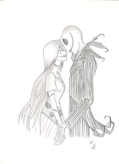 Brianna Garcia drawing, Jack and Sally