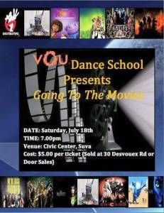 What: Vou Dance School Recital When: 7pm, Saturday 18 July, 2015 Who: Students from as young as 5 years old to even a 70 year old Where: Suva Civic Auditorium