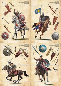 Artistic reconstruction of the Medieval Hungarian Warriors Medieval Weapons, Medieval Knight, Medieval Fantasy, Armadura Medieval, Military Art, Military History, Share Pictures, Templer, Knight Armor