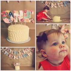 1st birthday cake smash!! I might be able to do this in my hallway downstairs.