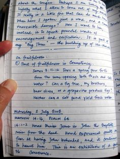 Journaling as Spiritual Discipline: How to Set up and Organize a Journal » A Holy Experience