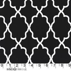 Throw Pillows!!   Michael Miller House Designer - Mod Basics - Moroccan Lattice in Black