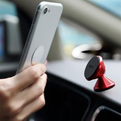ROCK Dumbbell Strong Magnetic Aluminium Alloy Dashboard Car Mount Phone holder for Xiaomi iPhone