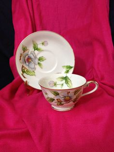 This listing is for a beautiful teacup and saucer in excellent condition no chips, cracks or crazing.