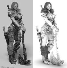 17d36d23a2b ArtStation - Norse, Gilberto Magno Modeling Techniques, Character Modeling,  Character Art, Character