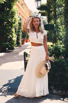 "I couldn't imagine waiting another year before getting my next ""dose"" of Italy, so I have decided to spend Labor Day weekend in Portofino. Natasha Oakley, Summer Outfits, Casual Outfits, Fashion Outfits, White Outfits, New York Fashion, Runway Fashion, Fashion Trends, White Two Piece Outfit"