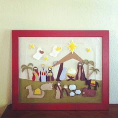 Nativity Advent with Felt