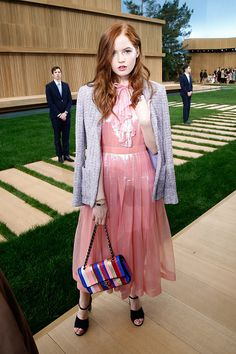 Fabulously Spotted: Ellie Bamber Wearing Chanel - Chanel Paris Fashion Week - http://www.becauseiamfabulous.com/2016/01/27/fabulously-spotted-ellie-bamber-wearing-chanel-chanel-paris-fashion-week/