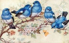 """""""A man's interest in a single bluebird is worth more than a complete but dry list of the fauna and flora of a town."""" ~ Henry David Thoreau.  Bluebirds of happiness!"""