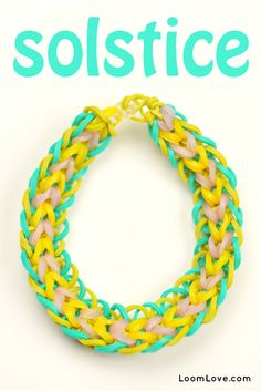 How to Make a Rainbow Loom Solstice Bracelet