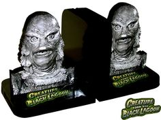 Creature from the Black Lagoon (Universal Monsters) CUSTOM Bookends - LOOK. $34.99, via Etsy.