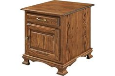 Amish Heritage End Table A treasure for office or living room. The Heritage has it all: solid wood construction, fine Amish craftmanship, and lots of custom options. #woodfurniture