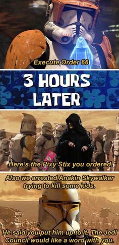 "That is NOT what I meant Cody!"" You are in the right place about Nerd Humor fandom Here we offer you the most beautiful pictures about the Nerd Humor jokes you are looking for. Star Wars Trivia, Star Wars Jokes, Star Wars Facts, Star Wars Clone Wars, Star Wars Rebels, Memes Humor, Nerd Humor, Funny Humor, Star Wars Pictures"