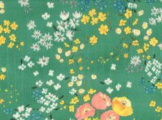 "Nani Iro En Garden Double Gauze Emerald <br><FONT COLOR=""fc7db0"">Employee Favorite!</FONT>"
