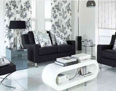 Modern Black and White Living Room Decoration