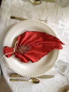 Ten Chic Napkin Folding Ideas for Thanksgiving