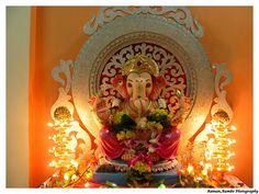 lord ganesh wallpaper by raman sharma Ganesh Chaturthi Photos, Ganesh Chaturthi Decoration, Happy Ganesh Chaturthi Images, Ganpati Decoration Design, Mandir Decoration, Ganapati Decoration, Shri Ganesh Images, Ganesha Pictures, Festival Decorations