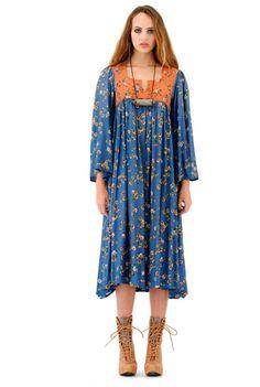 Antique La Luna Bell Sleeve Dress $168