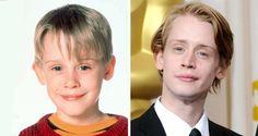 """Macaulay Culkin    Com apenas 9 anos, Macaulay alcançou o sucesso como Kevin McCallister na comédia """"Esqueceram de Mim"""". Durante a adolescência se afastou dos filmes e sofreu com a briga de seus pais por sua fortuna. Aos poucos, voltou a atuar em produções independentes"""