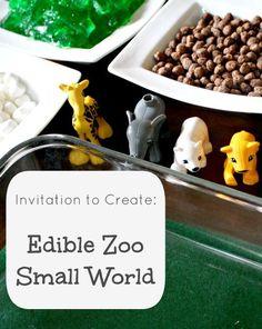 Edible Zoo Small World and Sensory Play