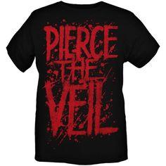 Pierce the Veil Blood Logo Slim-Fit T-Shirt ❤ liked on Polyvore