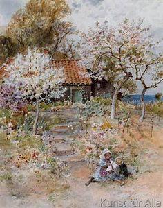 William Stephen Coleman - Children in an Orchard