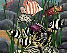 Fine Silver Cloisonne Tropical Fish Pendant от RansomsJewels