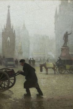 Adolphe Valette, Albert Square, Manchester 1910, Oil on canvas © Manchester City Galleries