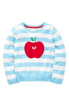 mini boden apple sweater.