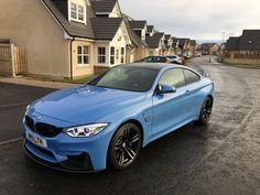 BMW M4 in Yas Marina Blue