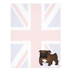 Patriotic Bulldog (brindle) Letterhead Design