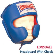 Lonsdale Headguard With Cheek made from genuine leather, featuring shock absorbing foam: http://www.menshealthstore.co.uk/Lonsdale-Headguard-With-Cheek-Small-(S)/lid/11195