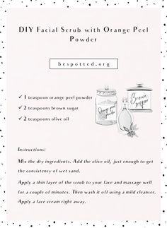 Orange Peel Powder – Benefits for Your Skin & 10 Amazing Recipes Beauty Tips For Face, Natural Beauty Tips, Health And Beauty Tips, Face Beauty, Beauty Secrets, Diy Beauty, Beauty Skin, Beauty Makeup, Orange Peels Uses