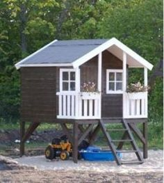 plans for playhouse on stilts