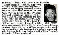 Singer Josephine Premice Weds Timothy Fales, New York Soci… | Flickr