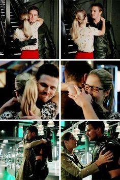 "Felicity's ""thanks for not being dead"" hugs. #Arrow"