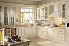 #Cocina #clasica de color #blanco con materiales de alta calidad #rustic #trend #white