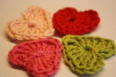 Anleitung Häkelapplikation Herz Häkelherz Crocheted Heart Tutorial