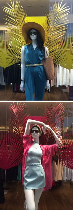 Summer Outfits merchandized in one of our Parisian windows! #AAParis #AmericanApparel