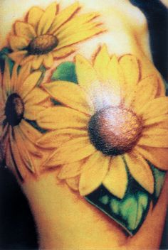 I just want one sunflower to wrap around my shoulder