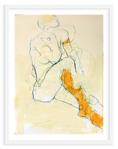 This is a fine-art print of the original work by Jylian Gustlin, set in a wood frame finished in white. The work arrives ready to hang. Life Drawing, Drawing Sketches, Art Drawings, Figure Painting, Figure Drawing, Giraffe Art, Art Graphique, Drawing People, African Art