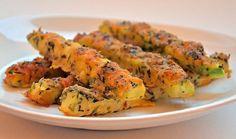 Zucchini in cheese breadcrumbs