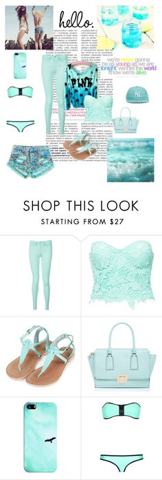 """""""Summer"""" by tess-302 ❤ liked on Polyvore featuring Tommy Hilfiger, Victoria's Secret, Club L, Topshop, Kate Spade, Casetify, New Era, cute, Blue and summerstyle"""