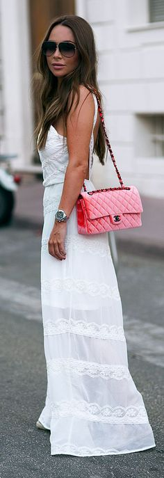 White Maxi Boho Dress
