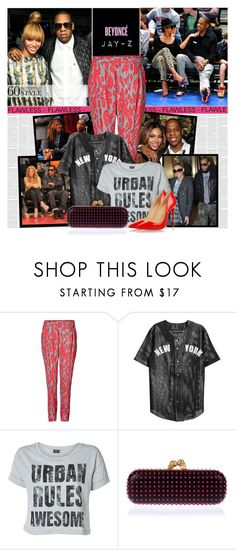 """""""60-Second Style: Beyonce and Jay-Z Concert"""" by bklana ❤ liked on Polyvore featuring Steffen Schraut, Love Leather, ONLY, Alexander McQueen, Christian Louboutin and crazyinlove"""